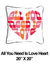 All You Need Is Love Heart Pink